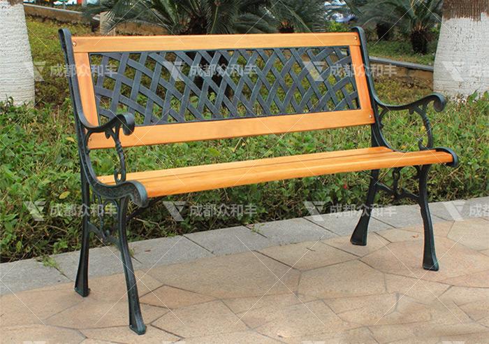 成都户外铁艺公园椅Y-18145