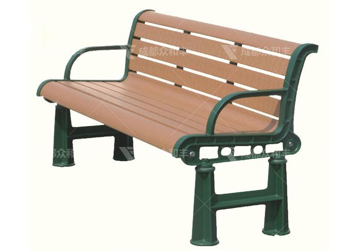 成都PE木塑公园椅户外椅Y-18162