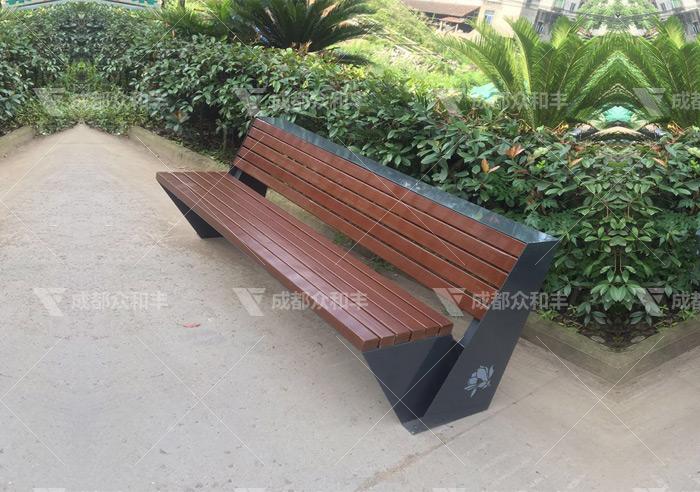 成都户外防腐木休闲椅Y-18102