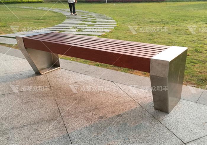 成都不锈钢户外公园椅Y-18186