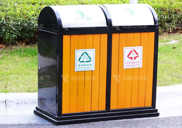 苍溪县采购户外分类垃圾桶果皮箱