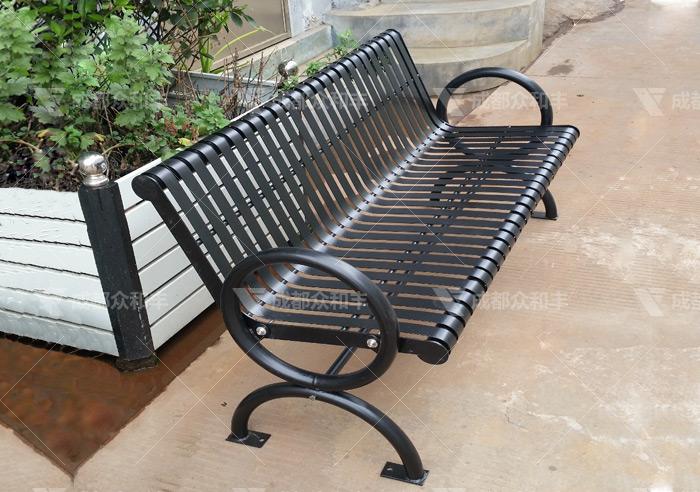 成都户外铁艺公园椅Y-18166