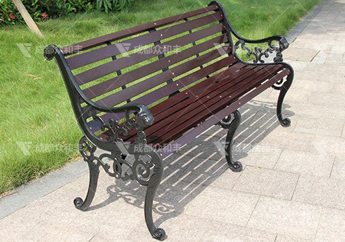 成都户外铸铁休闲椅Y-18167