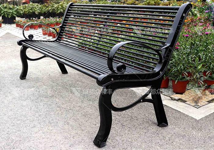 成都户外金属公园椅Y-18158