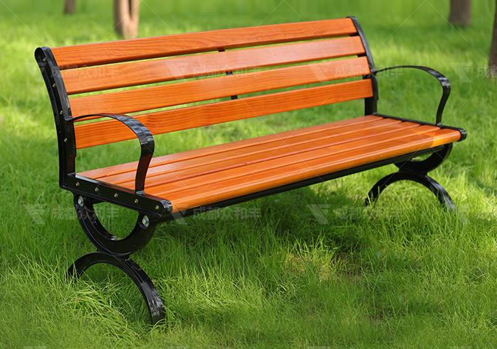 成都铸铁防腐木户外公园椅Y-18006