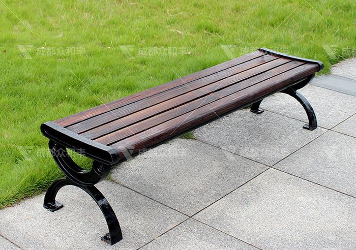 成都景区防腐木公园椅Y-18007