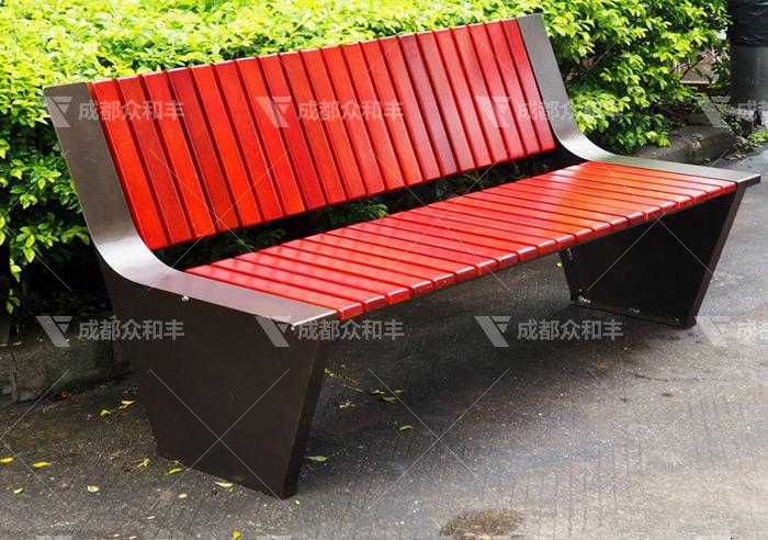 成都户外不锈钢休闲椅Y-18176