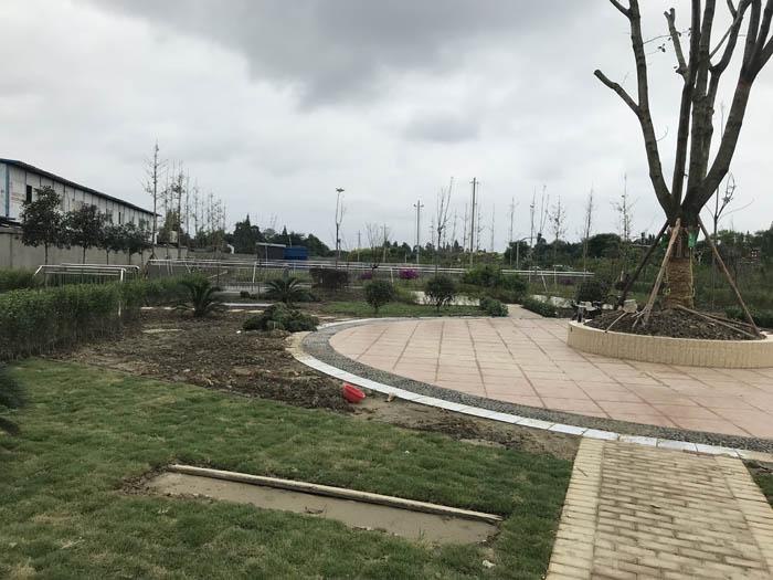 广汉新鑫和业园区员工休闲广场